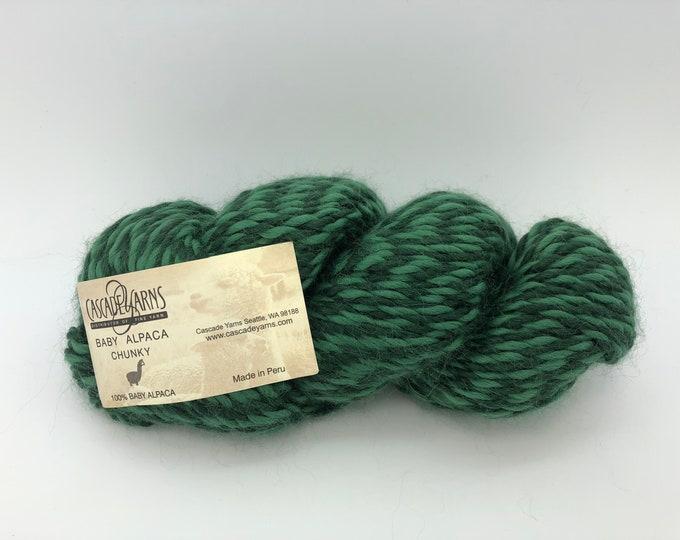 Cascade Baby Alpaca Chunky Yarn - Color 629 -  Green Baby Alpaca Yarn