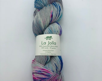 Baah Yarn La Jolla,  Fingering weight, 100% Superwash Merino Wool, Strawberry Fields