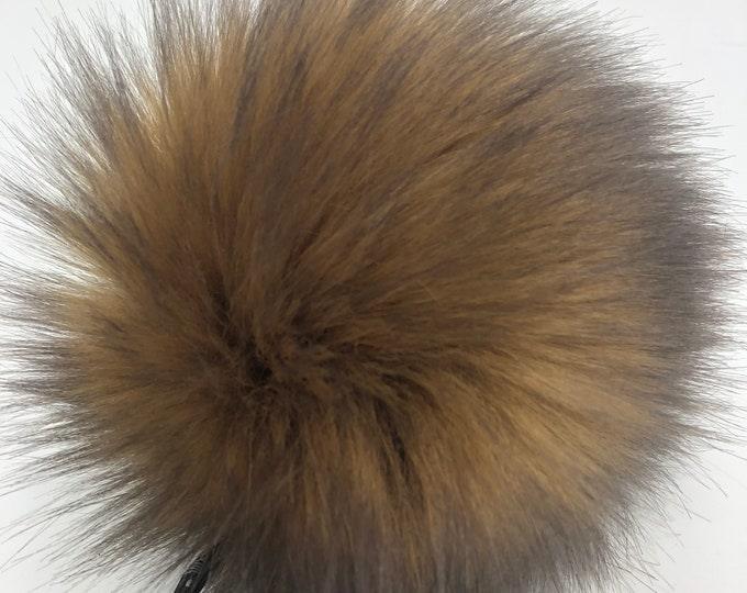 "Aheadhunter faux fur Pom Pom - Premium ""fox"" Pom Pom - camel color- hat topper - knit crochet supplies"