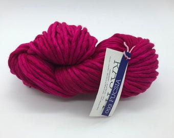 Malabrigo Rasta Yarn, Super Bulky Yarn, 100% Merino Wool, Fucsia, Hot Pink Super Bulky Yarn