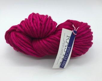 Malabrigo Rasta Yarn, Super Bulky Yarn, 100% Merino Wool, Fucsia, Hot Pink Super Bulky Yarn