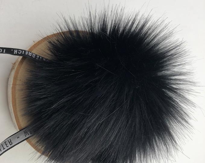 """Aheadhunter faux fur Pom Pom - Premium """"fox"""" Pom Pom  - hat topper - knit crochet supplies"""