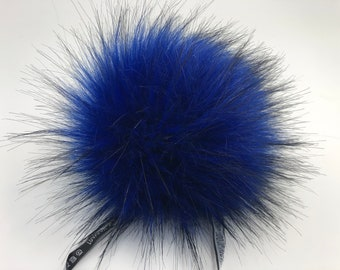 "Aheadhunter faux fur Pom Pom - Premium ""raccoon"" Pom Pom  - hat topper - knit crochet supplies"