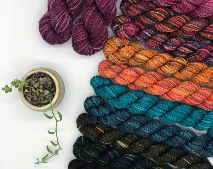 Grevillea Shawl kit, pattern Not included, Pattern by Ambah O'Brien,  fingering weight yarn