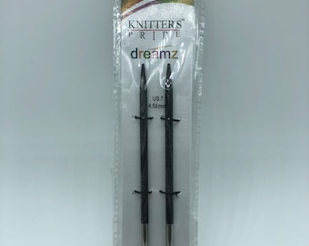 """Knitter's Pride Dreamz Normal Interchangeable Circular Needles,  4.5"""" tips, US 7(4.5mm) Needle Cord NOT included"""