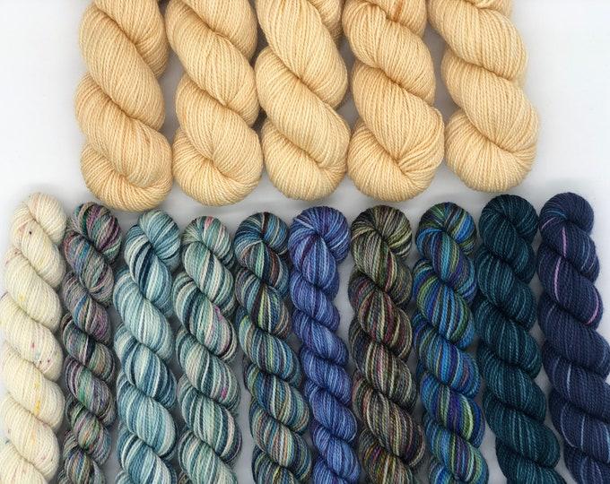 Koigu Yarns Kentia Wrap Yarn Pack,  Kingsport, Pattern not included, fingering weight merino wool