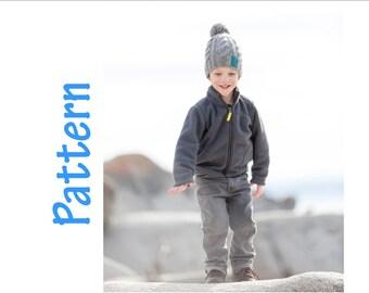 Knitting Pattern - Cable Hat -  bulky yarn knitting pattern - hat knitting pattern