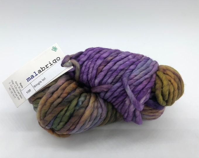 Malabrigo Rasta Yarn + Knitting Pattern, Super Bulky, 100%  Merino Wool, Single Dye lot