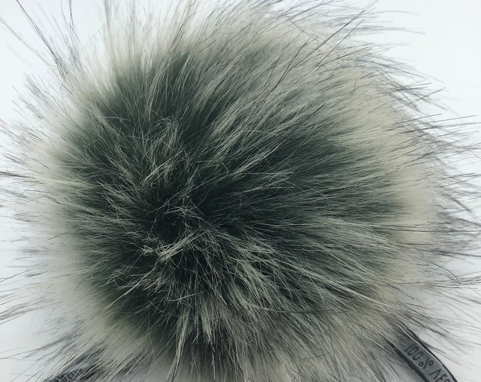 "Aheadhunter faux fur Pom Pom - Premium ""raccoon"" Pom Pom  - hat topper - knit crochet supplies"