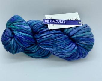 Malabrigo Rasta Yarn,  Super Bulky Merino Wool, Azules, Merino Wool