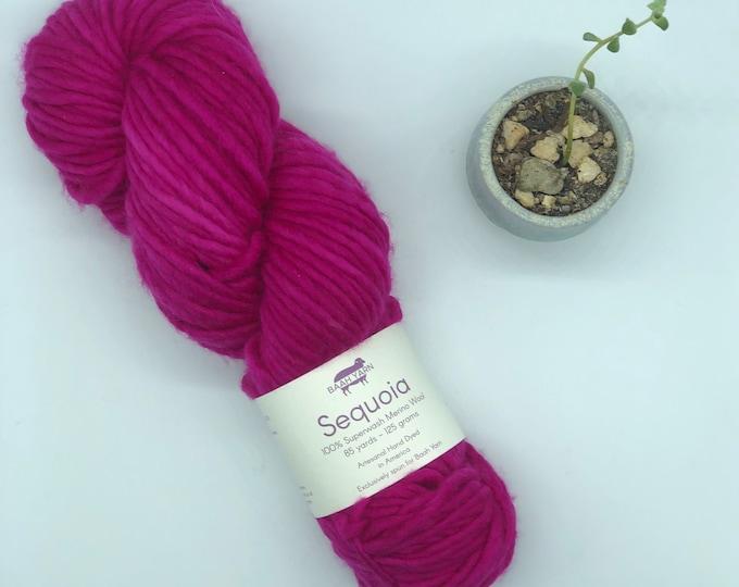 Baah Yarn Sequoia,  Super Bulky, 100%  Merino Wool, Single Ply, Pink Tourmalene, Superwash
