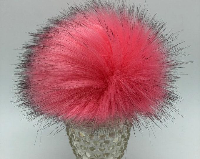 """Aheadhunter faux fur Pom Pom,  Premium """"fox"""" Pom Pom  - hat topper - knit crochet supplies"""