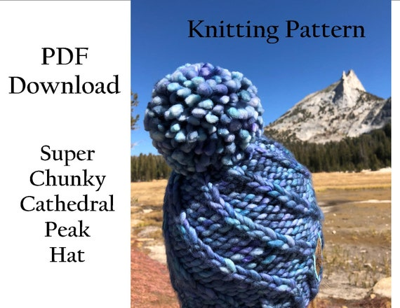 Hat Knitting Pattern Super Chunky Cathedral Peak Hat  55d1bfe4915