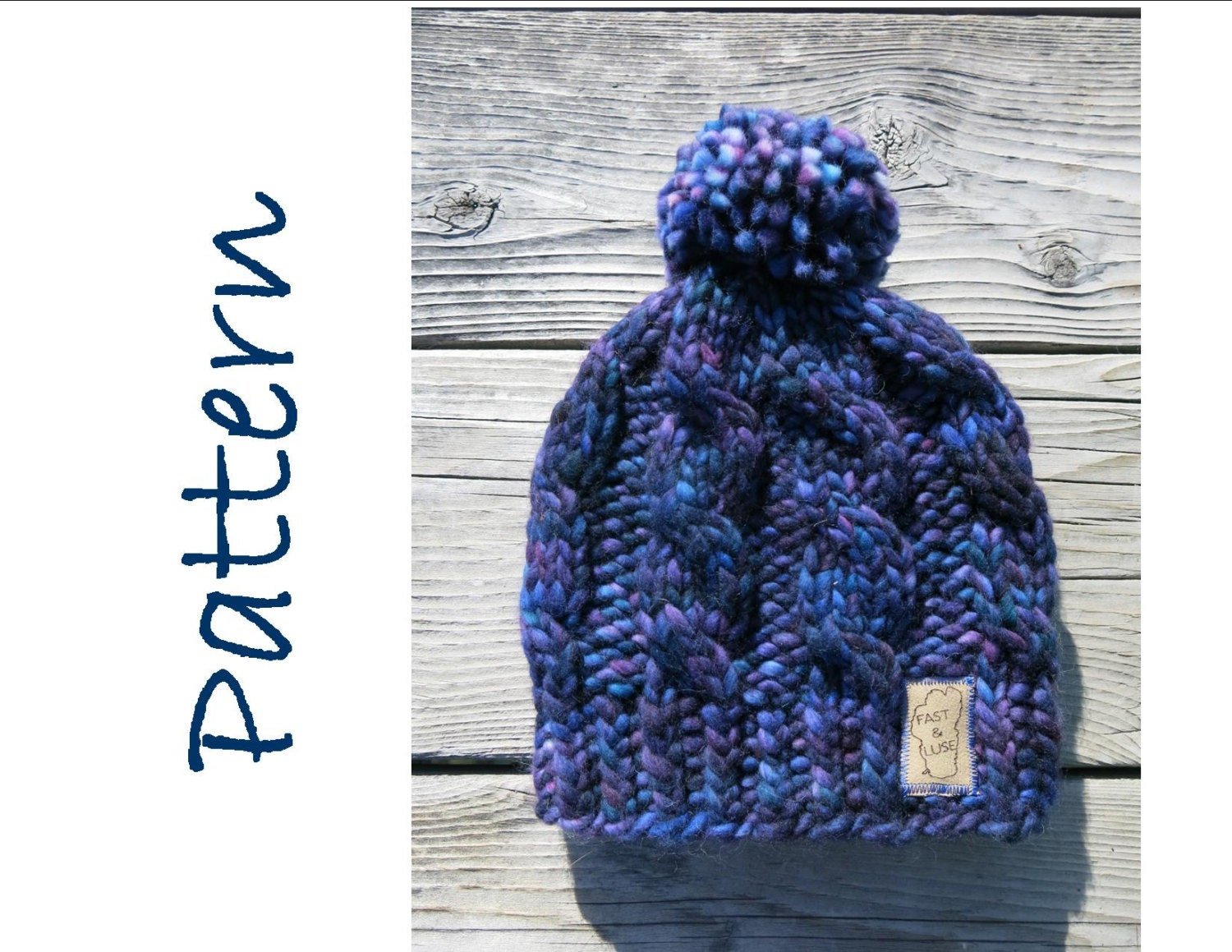 Hat Knitting Pattern - Super Chunky Cable Hat - Malabrigo Rasta Hat ...