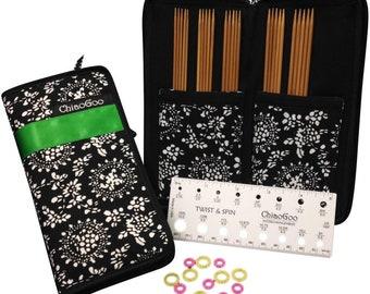 "ChiaoGoo Double Point Sock Set, 6""(15cm), US sizes 1, 1.5, 2, 2.5, 3"