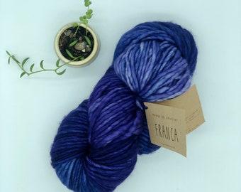 Franca Yarn by Manos del Uruguay, Super Bulky, 100% Superwash Merino Wool, Violeta , Purple Merino Yarn