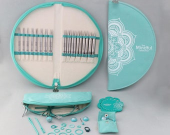 """Knitter's Pride, Gratitude  Interchangeable Lace Needle Set from the Mindful Collection, 5"""" tips"""
