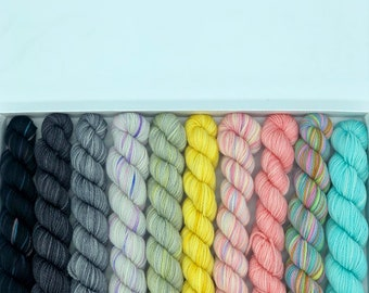 Koigu KPPM pencil box, Supermoon, fingering weight yarn