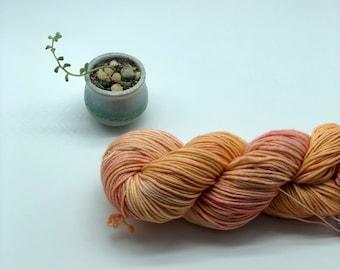 Malabrigo Rios Yarn + Hat Knitting Pattern, Worsted, 100% Merino Wool,  Light peach and pink, no dye lot