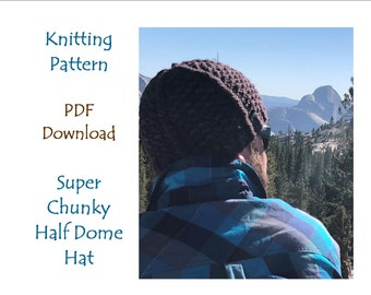 Hat Knitting Pattern, Super Chunky Seed and Strip Hat, Malabrigo Rasta Hat Pattern, Cascade Magnum Hat Pattern, PDF download