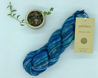 URTH Galatea Yarn, Bulky weight, 100% Cotton, Hand dyed, blue cotton yarn