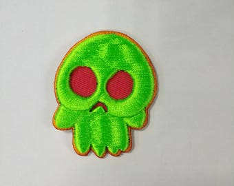 Skull Ghost Small 3d Embroidery Banger Patch SALE HALF OFF!