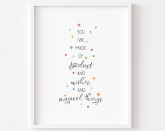 Stardust and Wishes /Children/Baby/Nursery/Classroom Art Printable