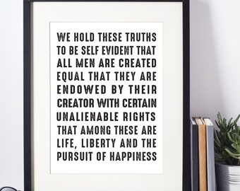 We Hold These Truths - Printable
