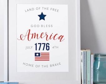 AMERICA - 4th of July decor printable