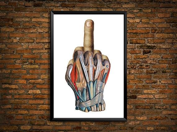 Middle Finger Bird Giant Poster Art Print