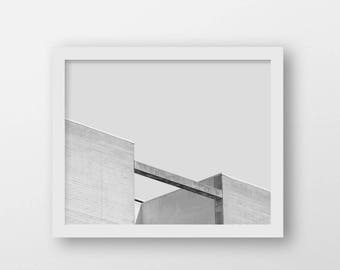 Minimalist Wall Art | Grey Architecture Print | Contemporary Home Decor | Printable Art | Urban Photography Print | Modern Industrial Decor