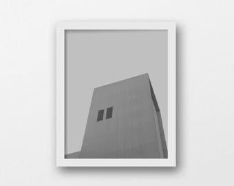 Brutalism Art Print | Industrial Wall Art | Grey Minimalist Photography Print | Concrete Decor | Modern Architecture Photo | Printable Art