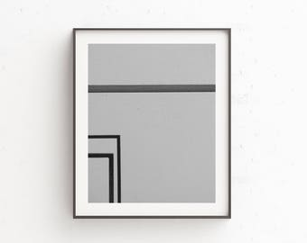 Printable Geometric Wall Art | Minimalist Art Print | Black, Grey Minimal Decor | Modern Urban Photography | Industrial Wall Art | Loft Art