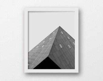 Printable Minimalist Geometric Art | Architecture Photography Print | Contemporary Jewish Museum San Francisco | Large Modern Art Print