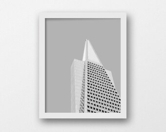 Black and White Minimalist Print | Contemporary Wall Art | Architecture Photography Print | San Francisco Travel Print | Modern Industrial