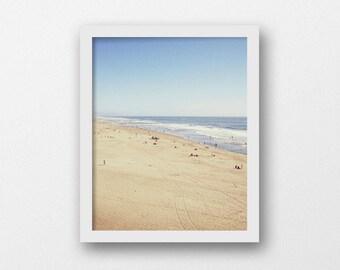 Aerial Beach Photography | Coastal Decor | Printable Beach Wall Art | Ocean Photography Print | Tilt Shift Art Print | Instant Download Art
