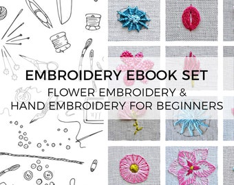 Hand Embroidery Tutorial Hand Embroidery Book Embroidery Etsy