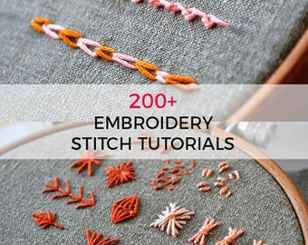 Embroidery Ebook Embroidery Tutorial Beginner Embroidery Etsy