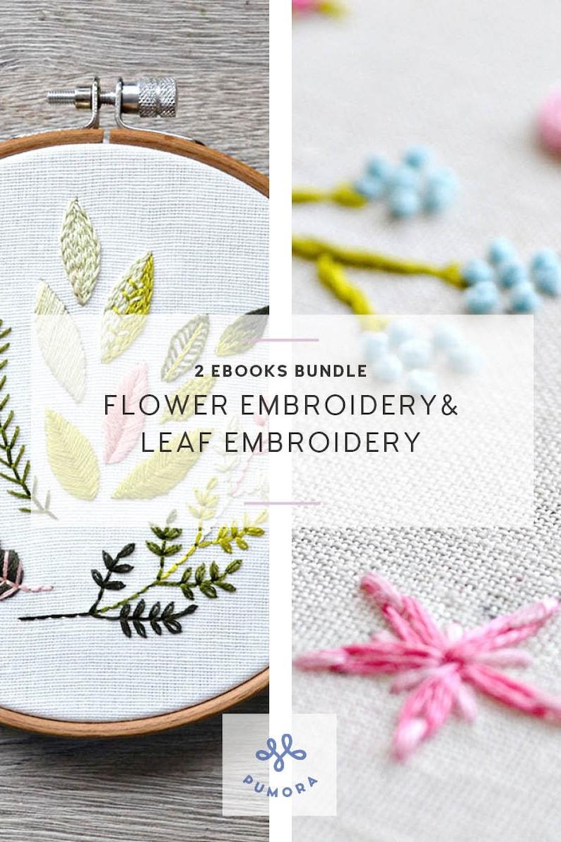 modern embroidery ebook botanical embroidery modern flower image 0
