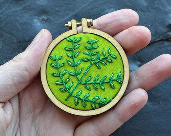 plant embroidery pattern, miniature embroidery, plant lady, botanical pattern, beginner embroidery, hand embroidery, embroidery jewelry