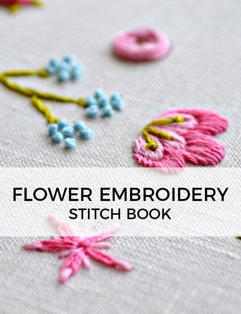 hand embroidery starter kit, beginner embroidery stitches, how to  embroider, modern embroidery stitch book, modern needlework