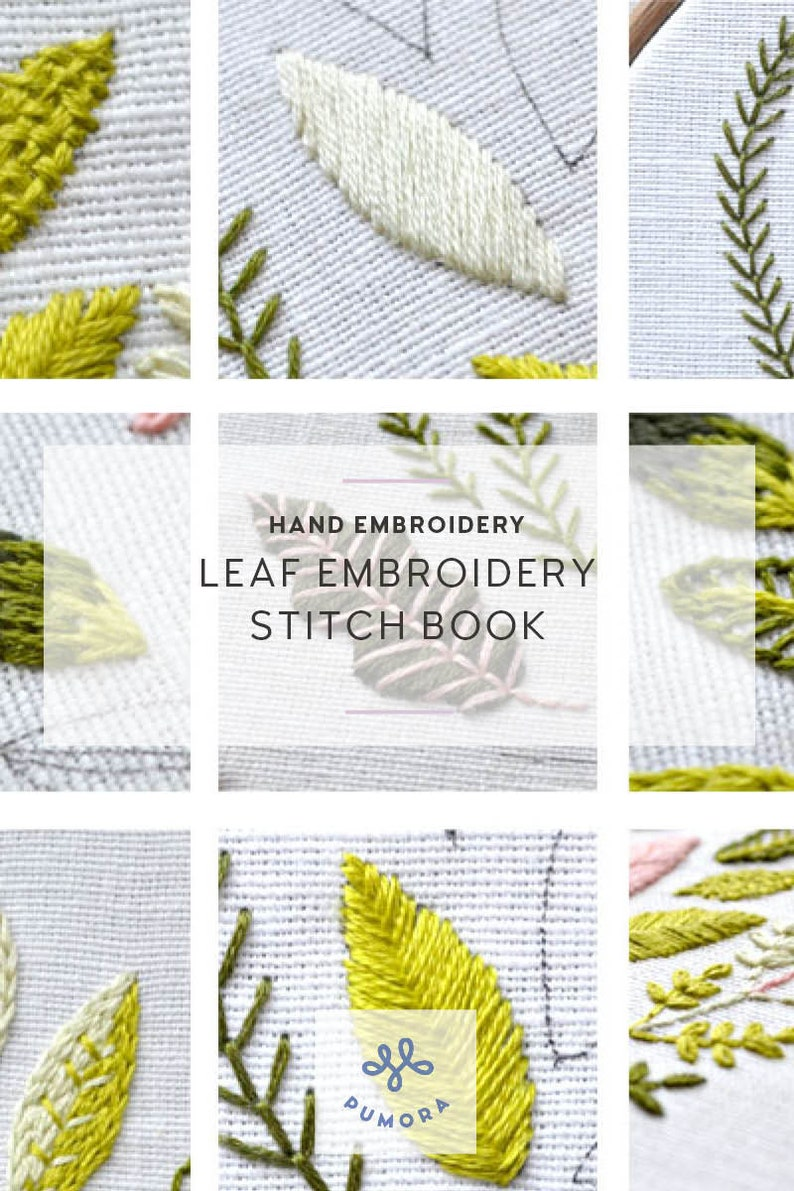 modern leaf embroidery pattern image 0