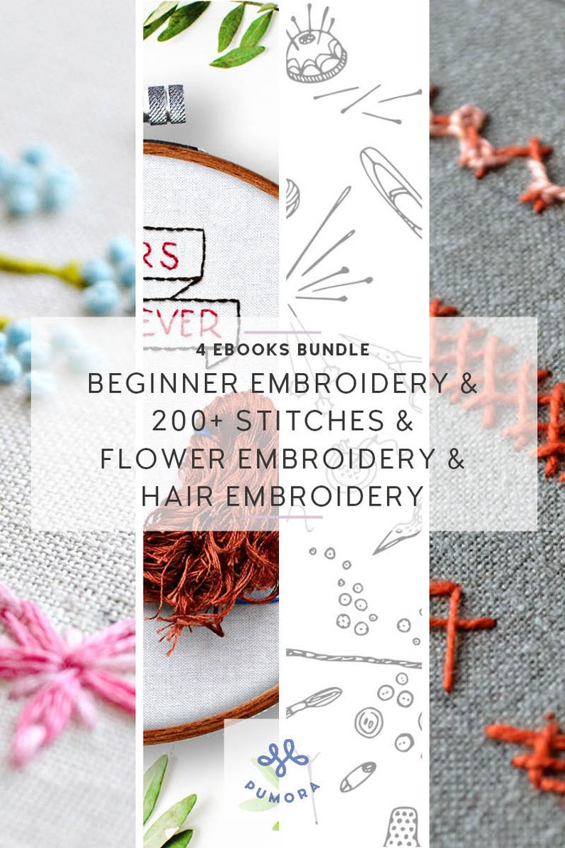 hand embroidery starter kit beginner embroidery stitches how image 0