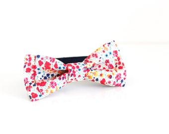 Cream Rose Floral SELF TIE Bow Tie Cotton Untied Bow Tie Mens Bow Tie Gift Groomsmen Bow Tie Mens Gift for Dad Groomsmen Gift Groom Gift