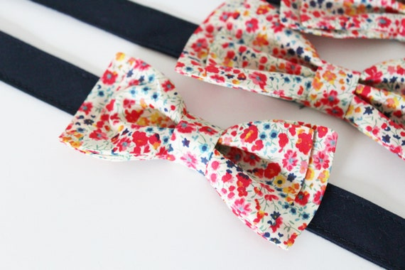 Bracelet mini bow tie with Liberty Wiltshire Red ON ORDER