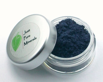 Blue Jeans Vegan Eye Shadow - Cruelty Free Mineral Eye Shadow- 3g of product in a 10g sifter jar
