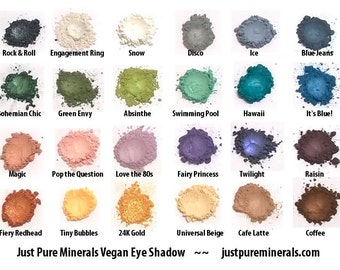 3 Vegan Mineral Eye Shadow Sample for just 4.49