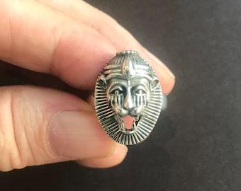 Narasimha Ring Sterling Silver Man-Lion Vishnu Adjustable