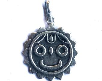 Jagganath Sterling Silver Hindu Pendant Krishna Avatar