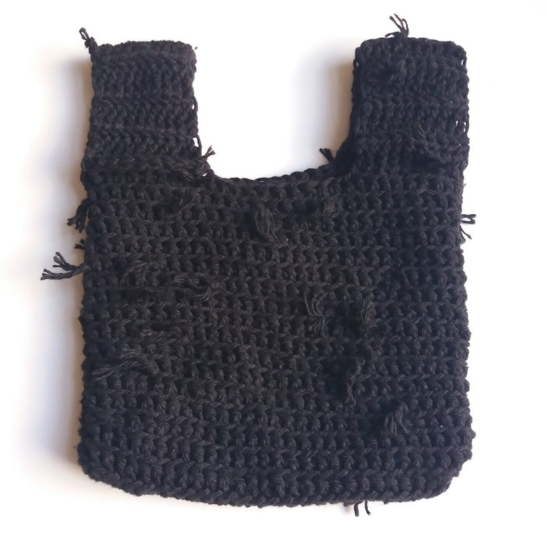 Black Recycled Cotton Knot Bag SALE